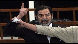 ردة فعل صدام حسين لحظة سماع حكم القاضي عليه وعلى رفقائه !!
