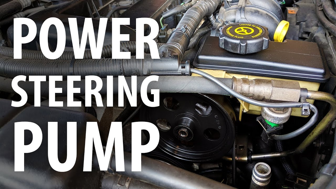 how to replace power steering pump and flush ps fluid (ford