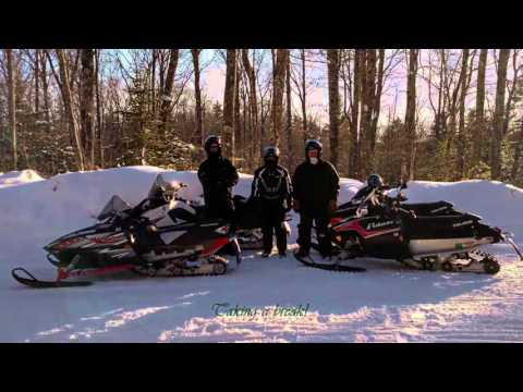Snowmobile Trip - Cable, Wisconsin - Day 1 - 2/5/16