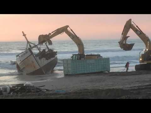 Dismantling of Fishing Vessel in Ventura