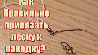 как привязать поводок к леске?/узел/поводок/леска/рыболовные узлы/