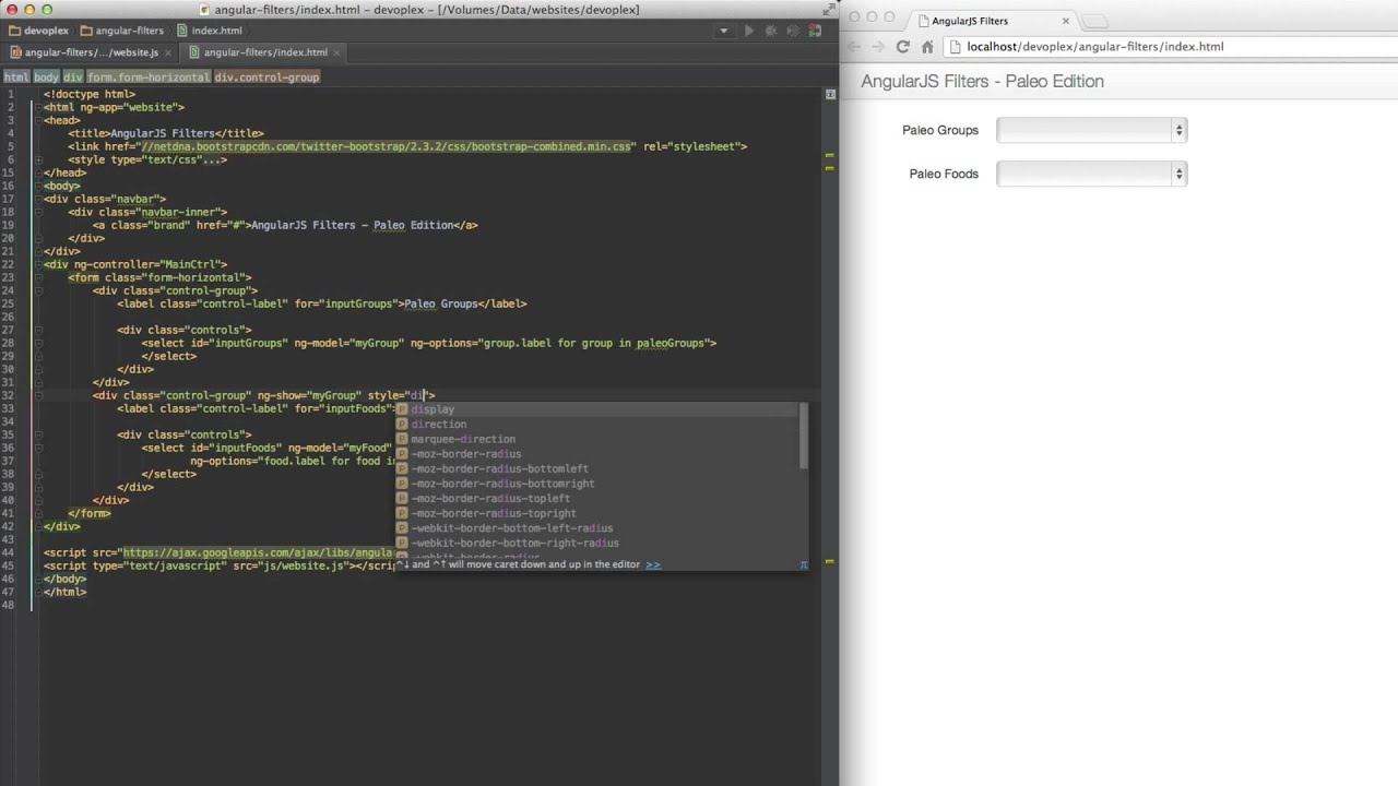fun with angularjs filters paleo edition youtube
