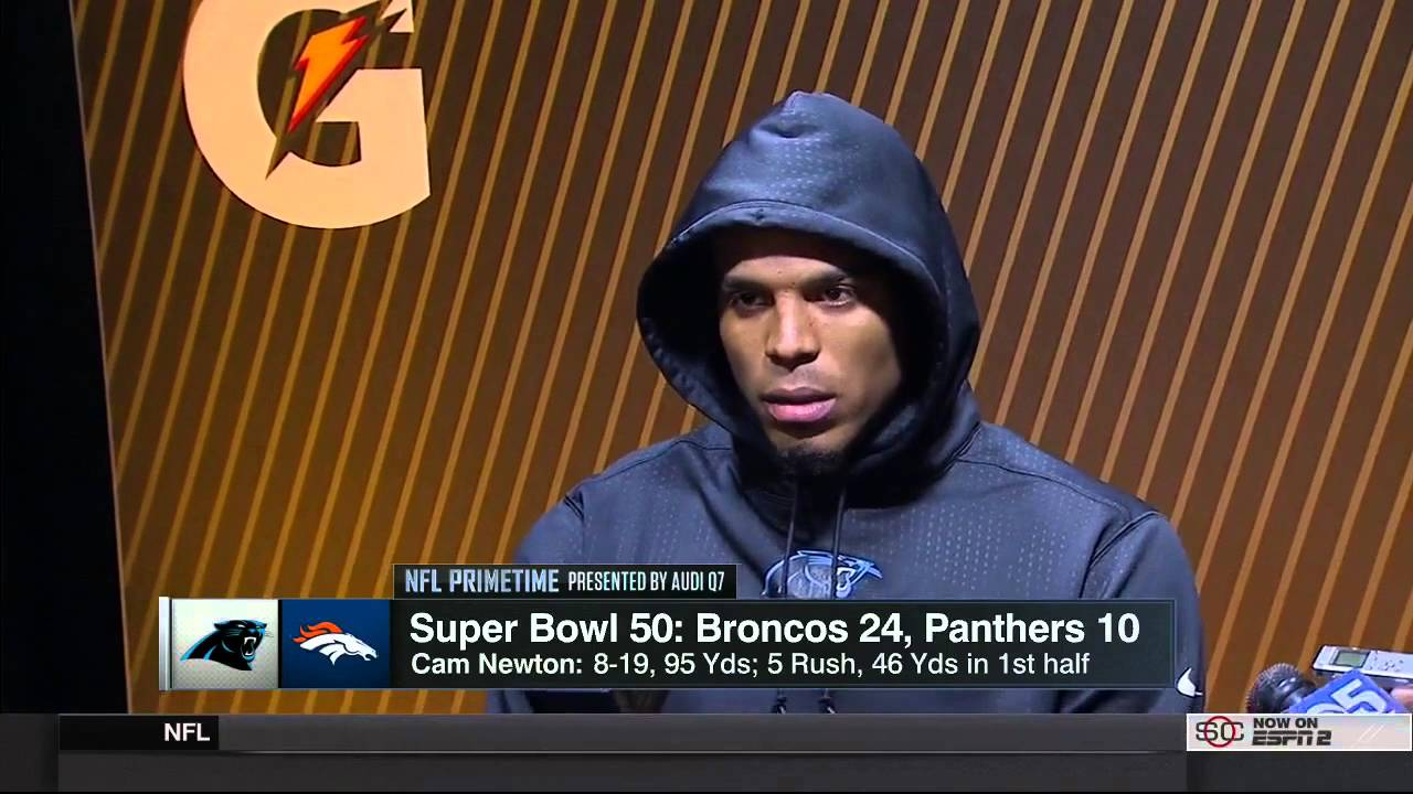 Cam Newton Super Bowl 50 Post Game Interview - YouTube 7cfb75e6f