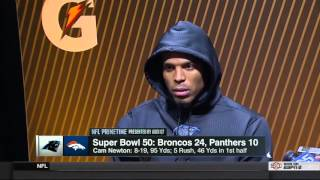 Cam Newton Super Bowl 50 Post Game Interview