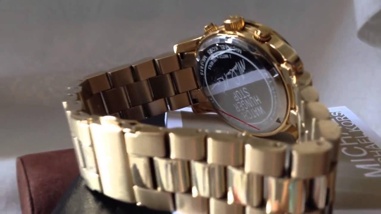 Relógio Michael Kors Mk5815 Dourado Turquesa Na Caixa manual - YouTube 460604bd9a