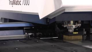 TRUMPF TruMatic 7000 Laser Punch Combo FabTech Demo  - by Sterling Fabrication Technology