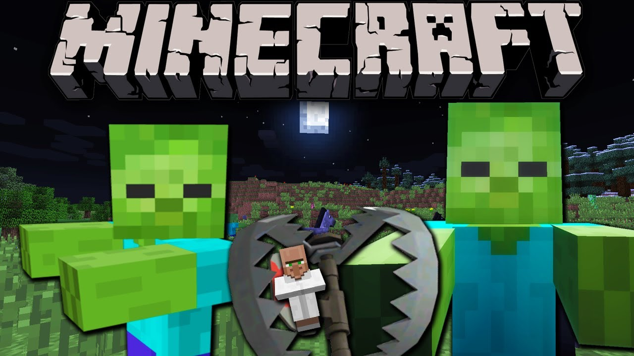 Minecraft 1.6: Zombie Trap - Protect Your Base! - YouTube