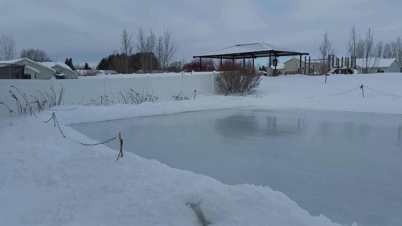 Homemade backyard ice rink! - YouTube