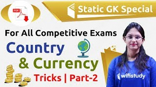 8:45 PM - Static GK by Sushmita Ma'am   Country & Currency Tricks (Day #2)