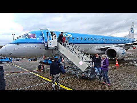 KLM BUSINESS CLASS(europe)   OSLO-AMSTERDAM   EMBRAER 190