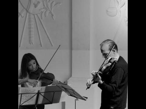 Natalia Gabunia & Wouter Vossen Prokofiev  Sonata for two violins op.56 (third movement)