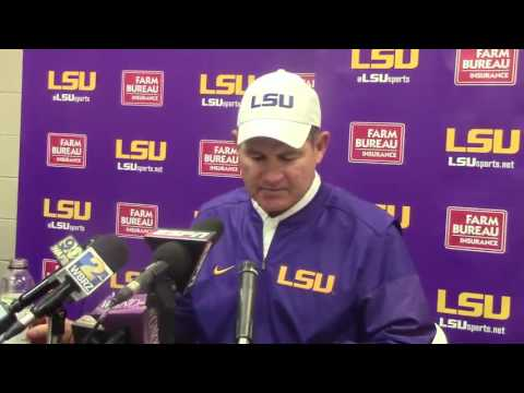 Les Miles talks about LSU's 18-13 loss to Auburn
