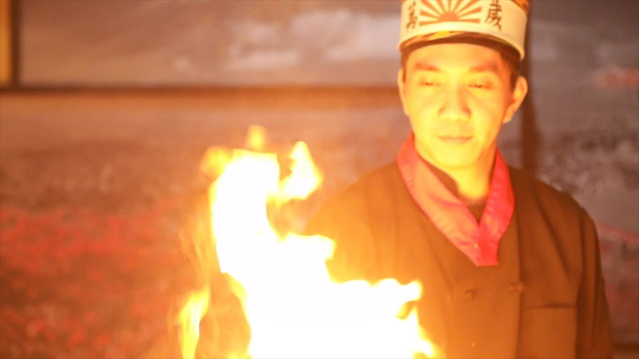 See chef denny fnu cook with fire at tokyo station