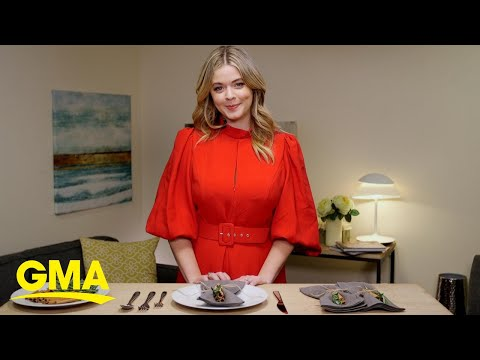 How to make Sasha Pieterse's cinnamon and rosemary place settings for Thanksgiving l GMA Digital