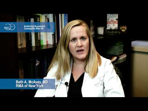 Achieving Successful Conception After 40 Dr. Beth McAvey