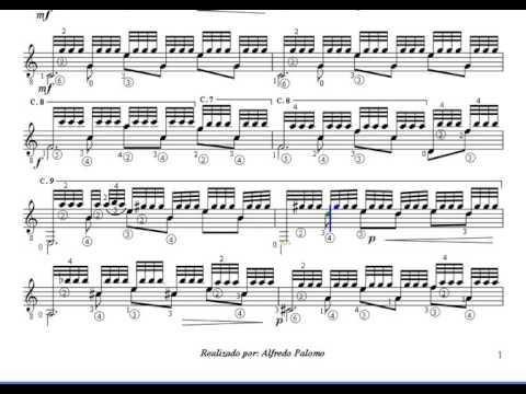 Partitura recuerdos de la alhambr de f t rrega guitarra for Partituras guitarra clasica
