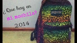 Que hay en mi mochila? 2014 Thumbnail