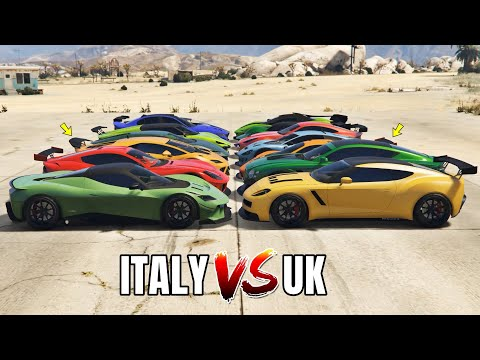 GTA 5 ONLINE - ITALY VS UK (WHICH IS FASTEST?)