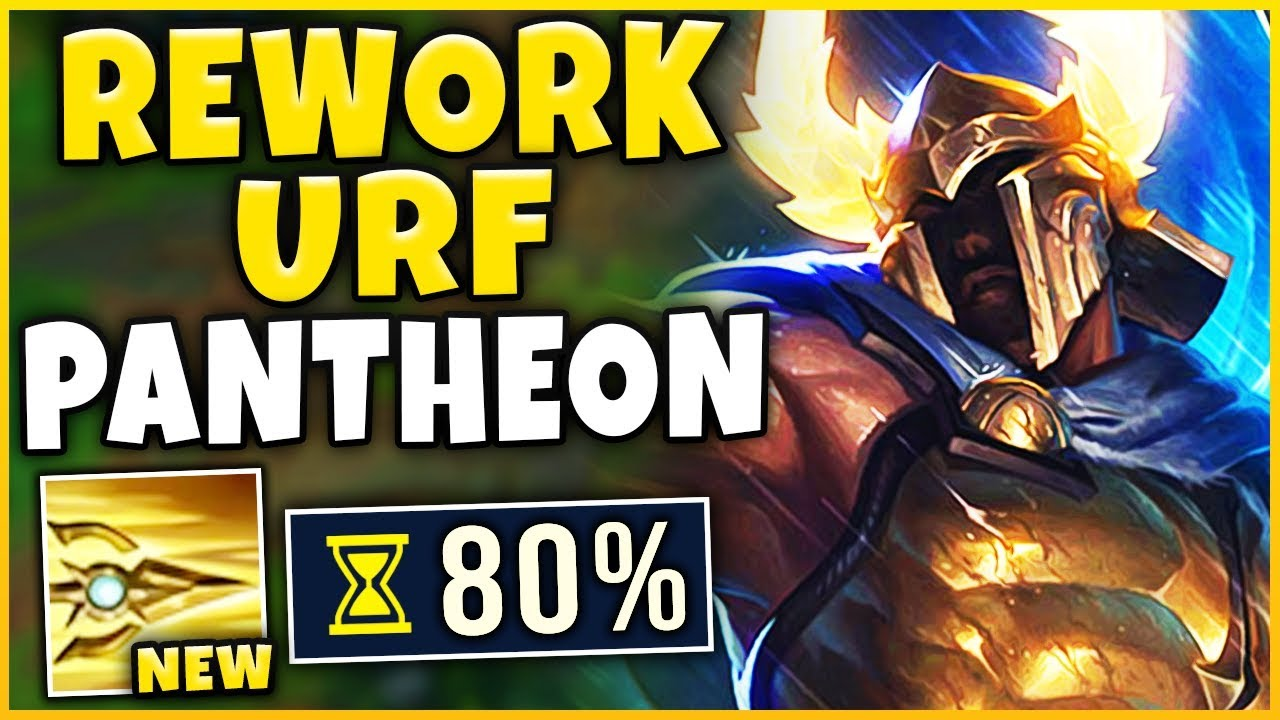 *WORLDS FIRST GAMEPLAY* REWORKED PANTHEON IN URF 2019 (PERMA-INVINCIBLE) - League of Legends thumbnail