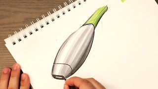 Industrial Design Sketching - How to Sketch Section Lines on Products thumbnail