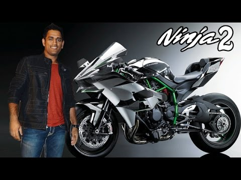 Ms Dhoni The First Owner Of Kawasaki Ninja H2 In India Youtube