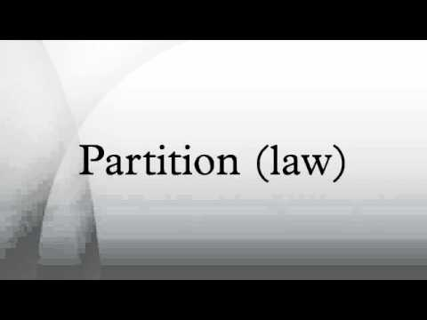 Partition (law)