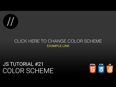 JS Tutorial #21 — Color Scheme [UP/TO/DATE] thumbnail