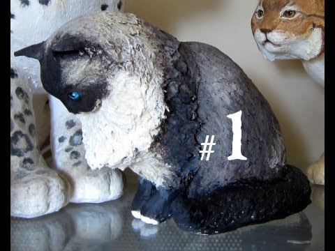 How to Make a Paper Mache Cat, Lesson #1 - YouTube