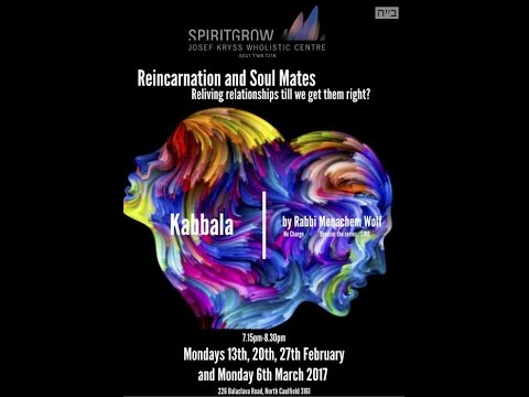 Transcendental Kabbalah Reincarnation and Soul Mates - Part 2 - By Rabbi Menachem Wolf 20/02/2017