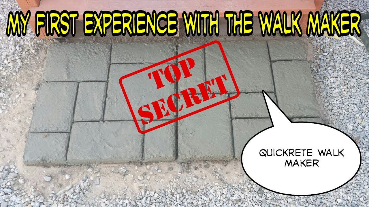 QuikRete WalkMaker Make Your Own Brickform Mold Concrete Walkway Patio  sc 1 st  YouTube & QuikRete WalkMaker Make Your Own Brickform Mold Concrete Walkway ...