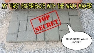 Quikrete Walkmaker Make Your Own Brickform Mold Concrete Walkway Patio
