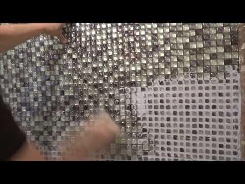 Укладка стеклянной мозаики, вторая часть.