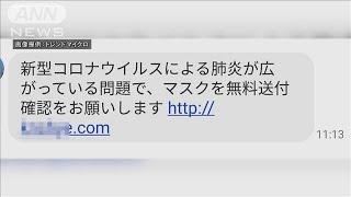 """""""マスク無料送付""""の偽メール・・・サイバー攻撃相次ぐ(20/02/06)"""
