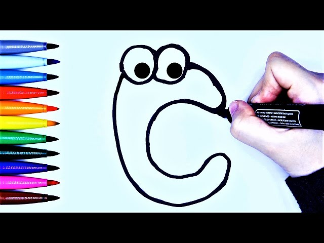 Cute ABC drawing and coloring activity for kids!