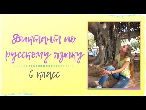 Диктант по русскому языку 6 класс (аудио)