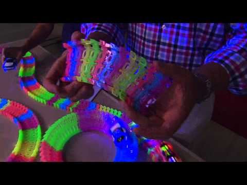 Twister Trax 12ft Glow in the Dark Set w/ 2 Light-Up Cars with Rick Domeier