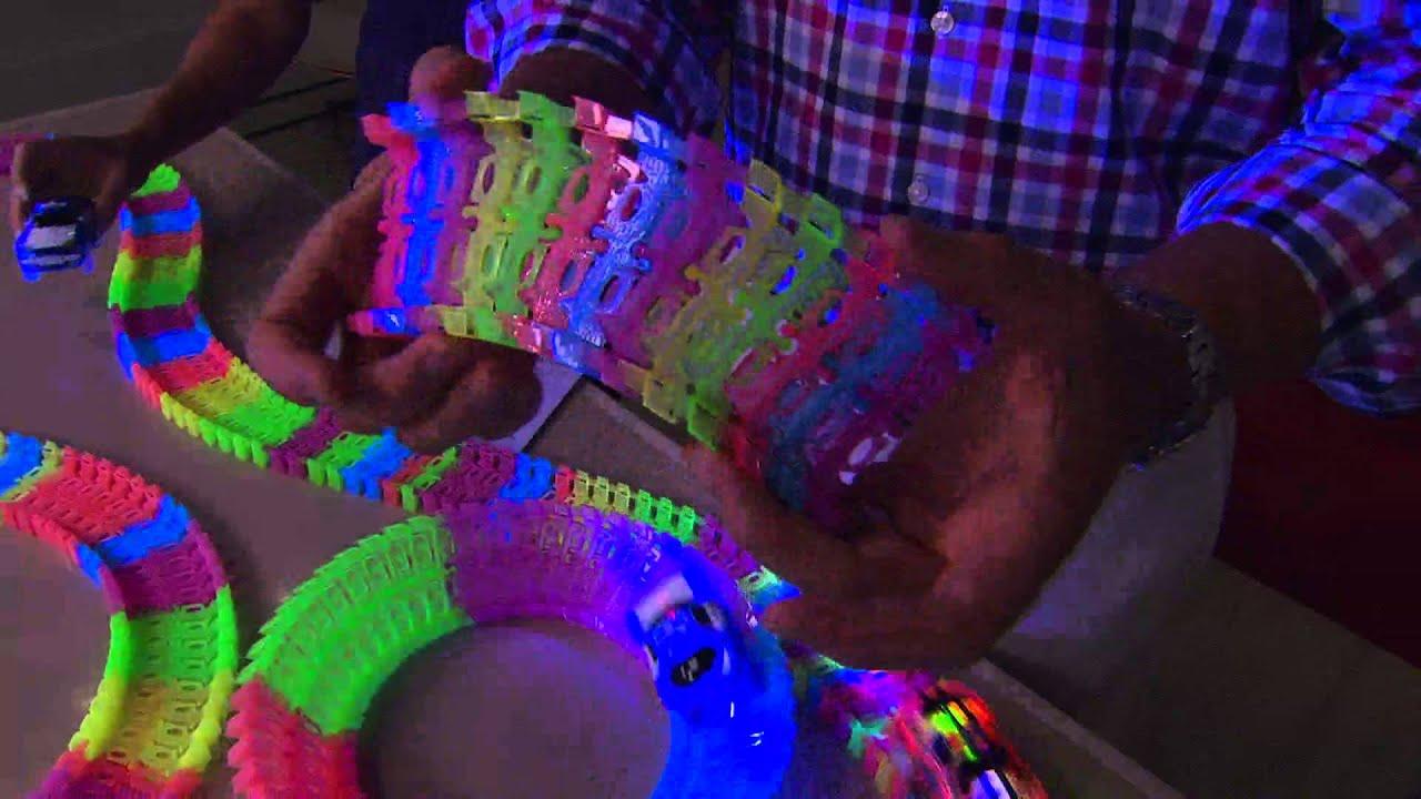 Magic Track Mindscope 12Feet Light Up Race Car Twister Track Glow in the Dark Up