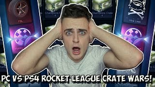 BACK TO BACK MYSTERY UNIVERSAL DECALS!!! | Rocket League CRATE WARS vs pickapixel! | PC vs PS4