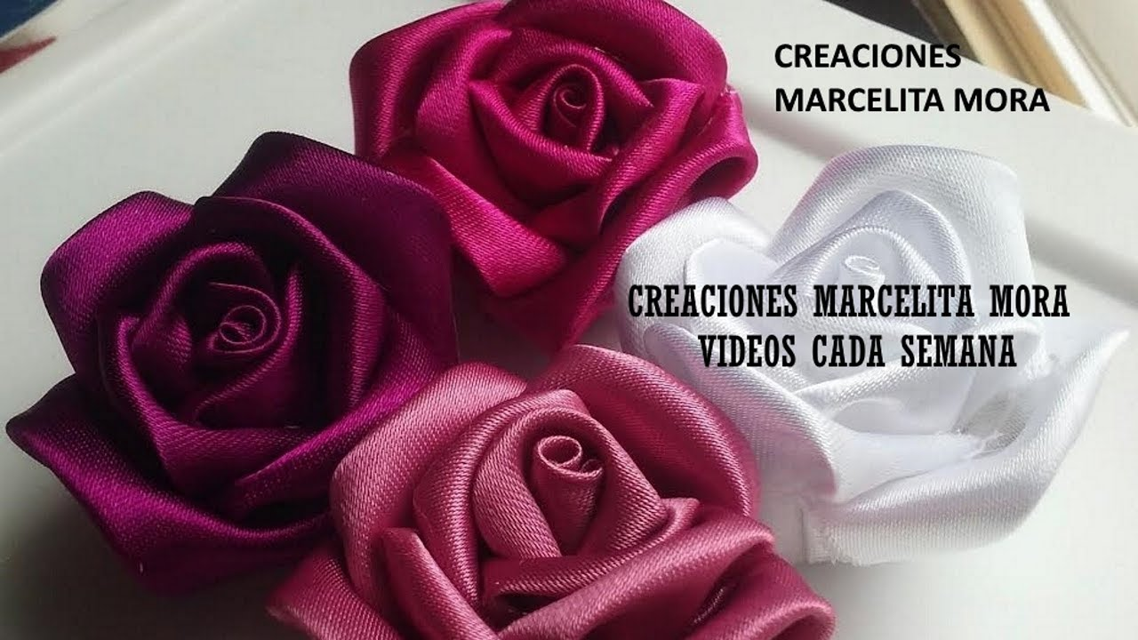 Diy Como Hacer Rosas Flores En Tela How To Make Easy Fabric Flower Roses роза クリップ簪 Youtube