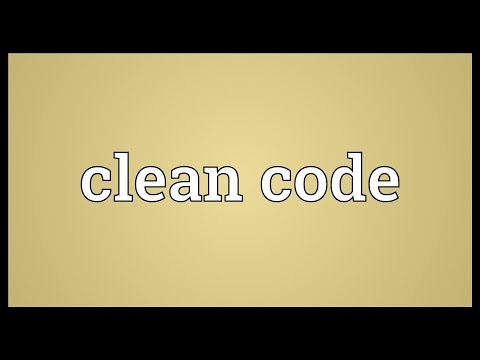Clean code Meaning