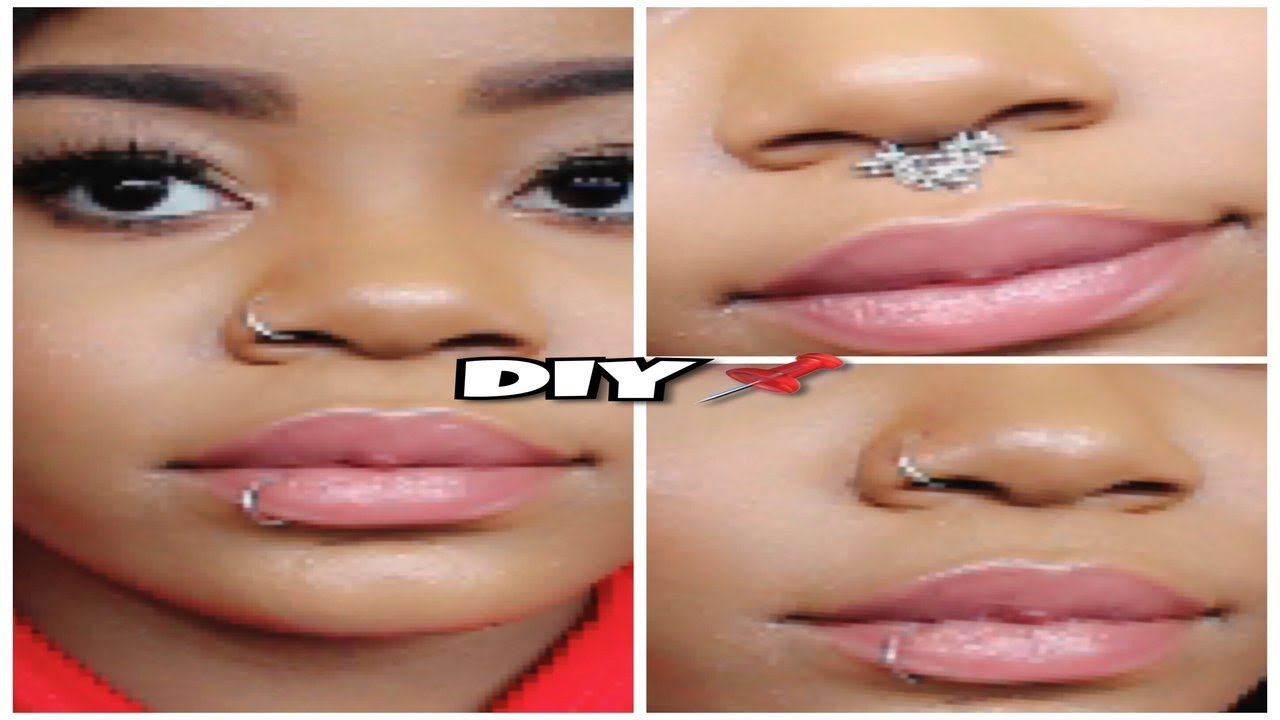 Diy Fake Lip Septum Nose Piercings For Free At Home Youtube