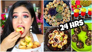 I only ate GOLGAPPA for 24 HOURS Challenge!! Nilanjana Dhar