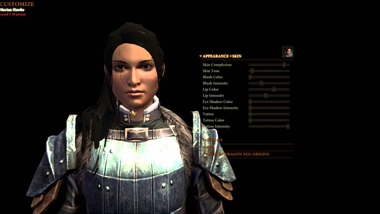 How To Create An Attractive Realistic Female Dragon Age 2 Character