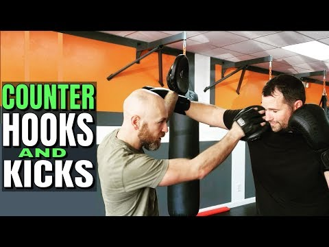 The Right Way To Hold Pads | How To Counter Hooks | Counter Kicks With Punches