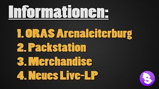 Infos: Arenaleiterburg, Packstation, Merch, neues Live-LP!