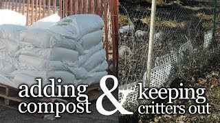 Adding Compost To Your Soil & Keeping Small Animals Out- The Wisconsin Vegetable Gardener