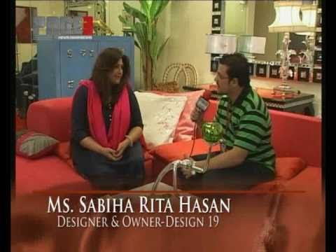 Interview with Ms. Sabiha Rita Hasan at Design19(www.page3.pk) HQ