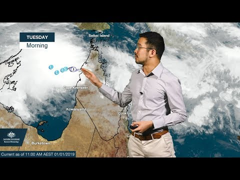 ⚠Weather Update: Tropical cyclone Penny 01 January 2019