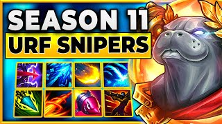 This Video Took Me A Month To Make (Season 11 URF Snipers)