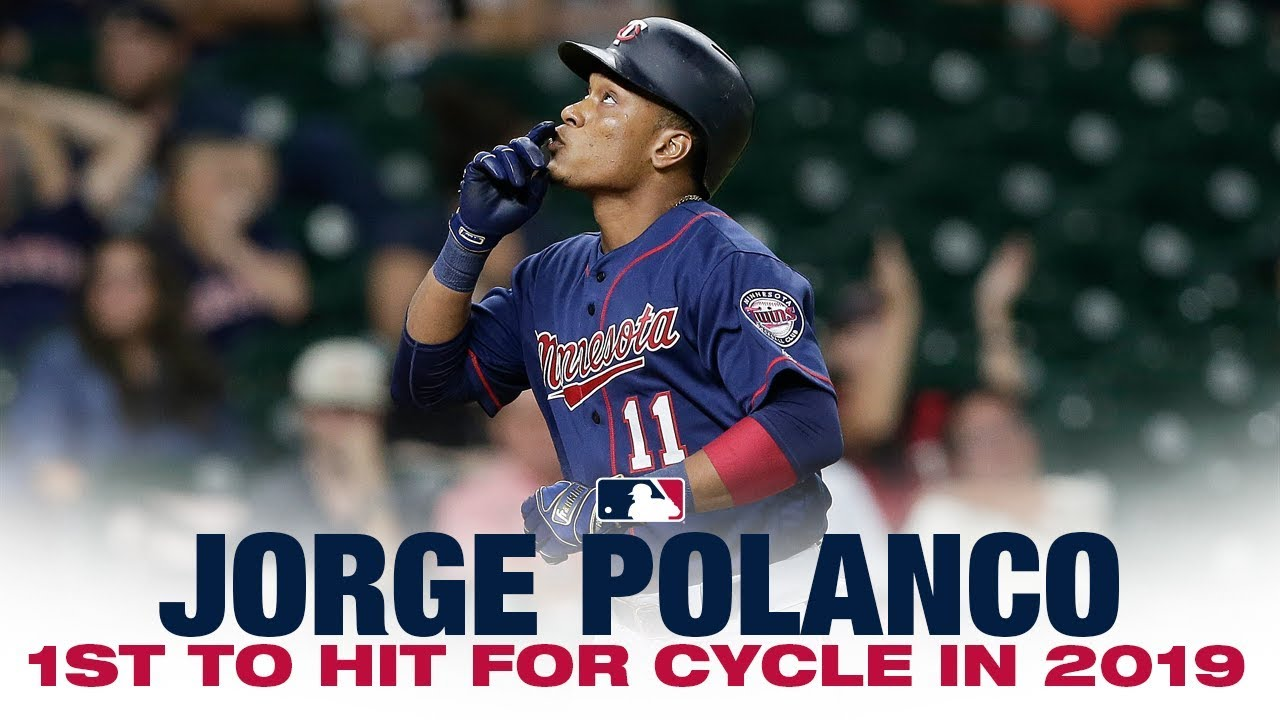 Twins' Polanco hits for 2019's 1st cycle